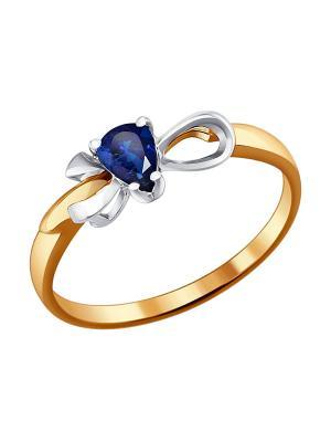 Кольцо SOKOLOV. Цвет: синий, золотистый, серебристый