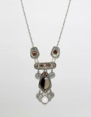 Raga Ожерелье. Цвет: серебряный