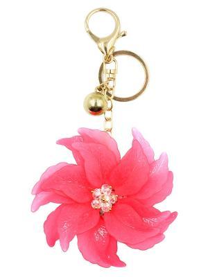 Брелок для сумки Taya. Цвет: малиновый, золотистый
