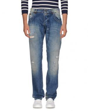 Джинсовые брюки DIRK BIKKEMBERGS SPORT COUTURE. Цвет: синий