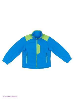 Куртка флисовая High Experience. Цвет: темно-синий, салатовый