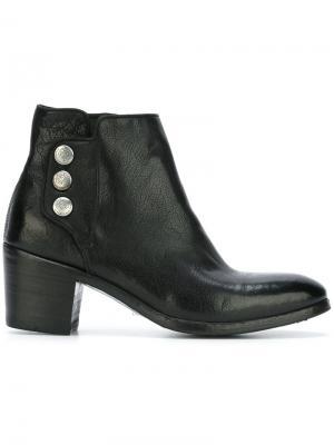 Ботинки на массивном каблуке Alberto Fasciani. Цвет: чёрный