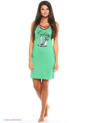 Сорочка Alfa. Цвет: зеленый