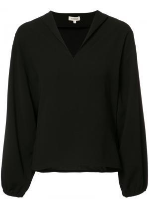 V-neck blouse Toteme. Цвет: чёрный