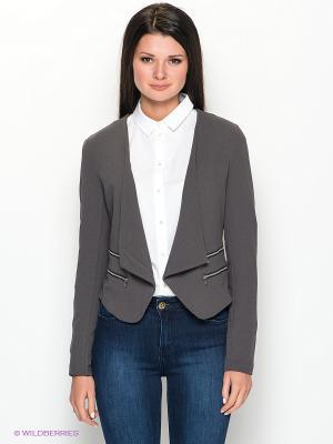 Пиджак Vila. Цвет: темно-серый