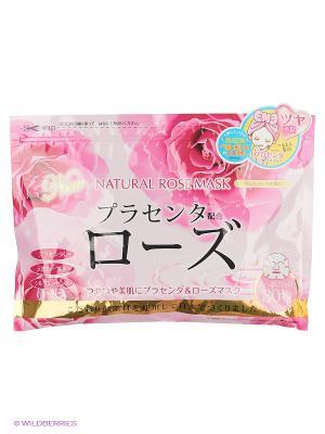 Japan Gals Курс натуральных масок для лица с экстрактом розы 30 шт. Цвет: прозрачный