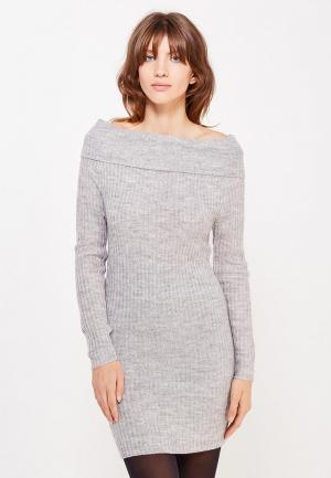 Платье Brave Soul. Цвет: серый