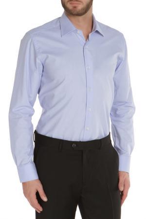 Полуприлегающая рубашка с застежкой на пуговицы The Savile Row. Цвет: голубой