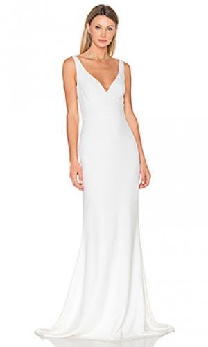 Вечернее платье без рукавов JILL STUART. Цвет: белый
