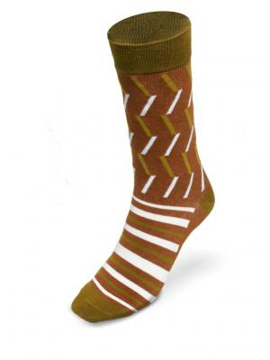 Носки Автодорожные ВсеРадости. Цвет: хаки, белый, коричневый
