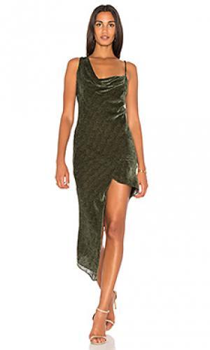Макси платье Michelle Mason. Цвет: оливковый