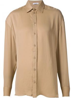Рубашка свободного кроя Tomas Maier. Цвет: телесный
