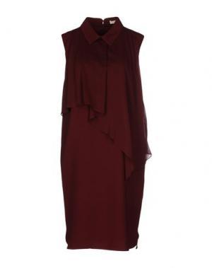 Короткое платье O'2nd. Цвет: красно-коричневый