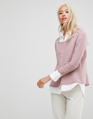 Subtle Luxury Кашемировый джемпер с рукавами реглан. Цвет: розовый