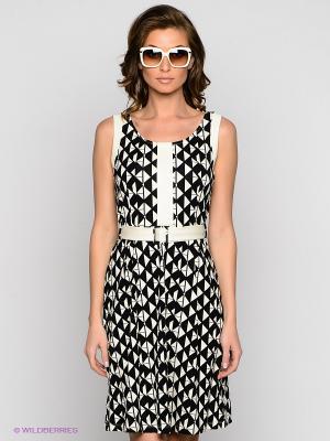 Платье VILA JOY. Цвет: черный, молочный