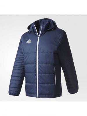 Куртка TIRO17 WINT JK  CONAVY/WHITE Adidas. Цвет: темно-синий