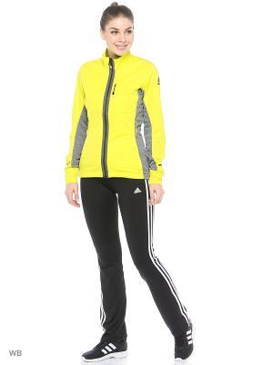 Ветровка Adidas. Цвет: желтый, темно-серый