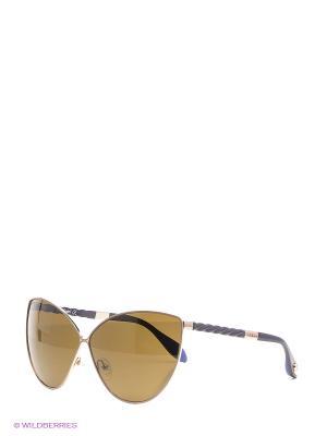 Очки солнцезащитные BLD 1508 204 Baldinini. Цвет: золотистый, синий