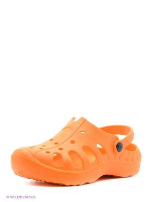 Пантолеты пляжные из этиленвинилацетатной композиции BRIS. Цвет: оранжевый