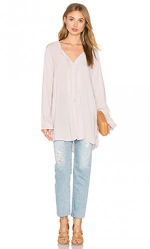 Блузка с длинным рукавом shea Velvet by Graham & Spencer. Цвет: серый