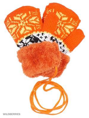 Варежки Mini. Цвет: оранжевый