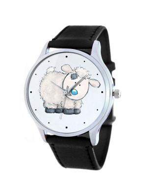 Дизайнерские часы Овечка Tina Bolotina. Цвет: черный, серо-голубой