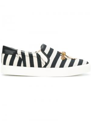Striped bee detail sneakers Sam Edelman. Цвет: белый