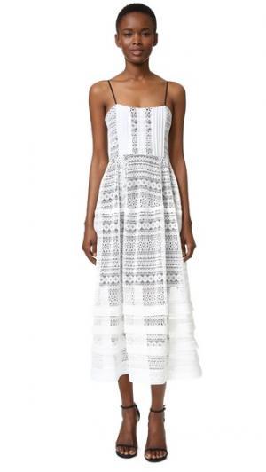 Платье Vanessa Marissa Webb. Цвет: белый комбинированный