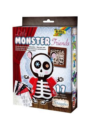 Набор для создания очаровательной игрушки СКЕЛЕТИК МЫШКИ FOLIA. Цвет: синий, белый, красный, черный