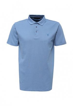 Поло Trussardi Jeans. Цвет: голубой