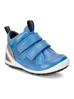 Ботинки ECCO. Цвет: синий, серебристый