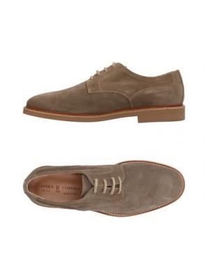 Обувь на шнурках ANTICA CUOIERIA. Цвет: хаки