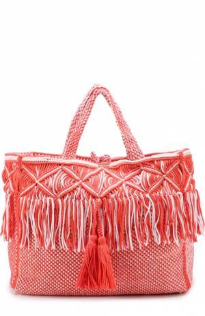 Текстильная сумка Seychelles Melissa Odabash. Цвет: розовый
