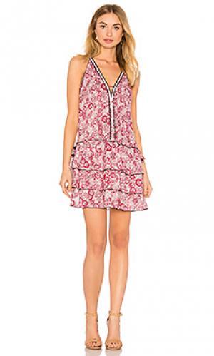 Мини платье bety Poupette St Barth. Цвет: розовый
