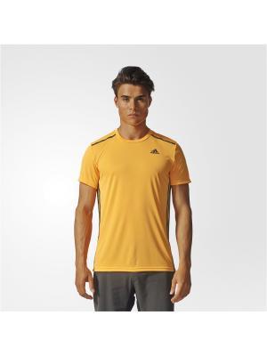 Футболка спортивная муж. COOL365 TEE Adidas. Цвет: золотистый