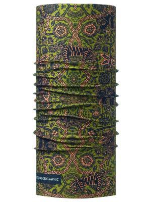 Бандана BUFF 2017 High UV NATIONAL GEO. JAVANAK OLIVE. Цвет: зеленый