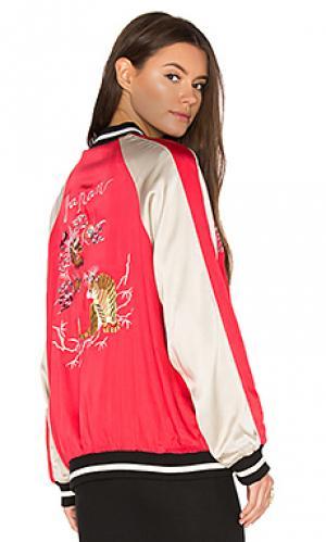 Двусторонняя куртка-бомбер beau Bardot. Цвет: красный