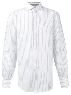Рубашка в полоску Brunello Cucinelli. Цвет: белый