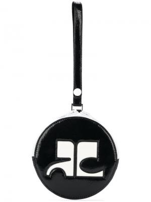 Круглая сумка-клатч Courrèges. Цвет: чёрный