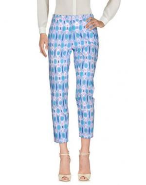 Повседневные брюки TRUE ROYAL. Цвет: бирюзовый