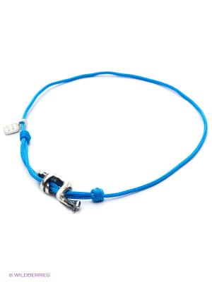 Браслет Amorem. Цвет: голубой, серебристый