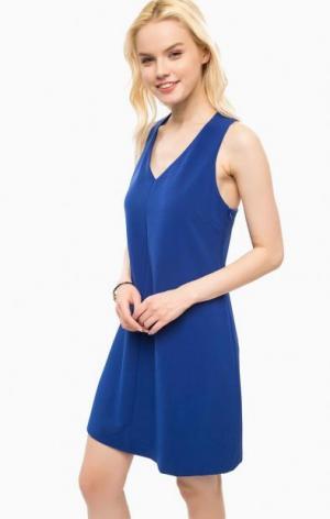 Короткое синее платье расклешенного силуэта Kocca. Цвет: синий