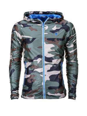 Куртка OMBRE. Цвет: черный, белый, зеленый