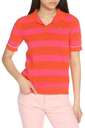 Рубашка-поло Scotch&Soda. Цвет: оранжевый