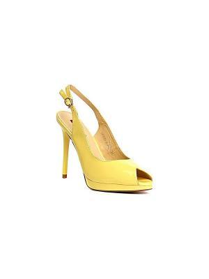 Босоножки MILANA. Цвет: желтый