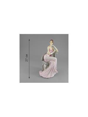 Статуэтка ДАМА В КРЕСЛЕ MOLENTO. Цвет: белый, бледно-розовый