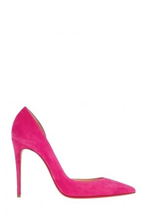 Замшевые туфли Iriza 100 Christian Louboutin. Цвет: розовый