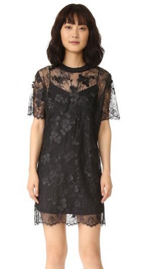 Платье с короткими рукавами Carven. Цвет: голубой
