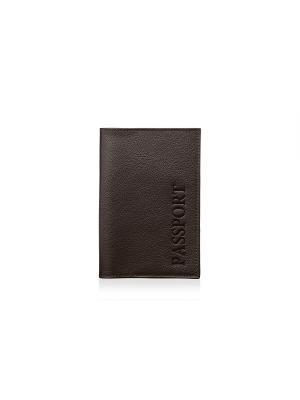 Обложка для паспорта, коричневая Фаэтано. Цвет: коричневый