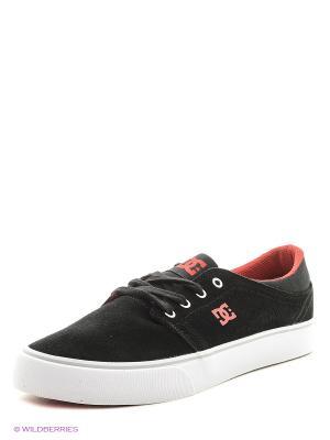 Кеды DC Shoes. Цвет: черный, красный